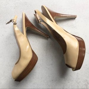 Enzo Angiolini Size 12 - Nude Leather Patton Heels